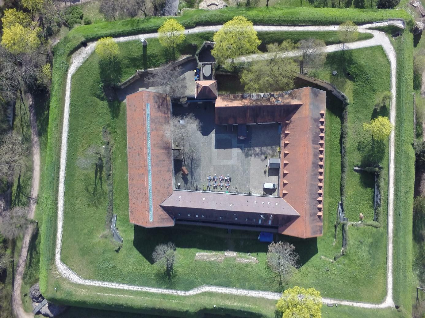 Luftbild Festung Rüsselsheim