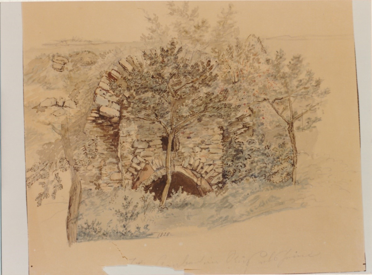 Festungsgraben 1828 (Aquarell, Aquarell Morgenstern)