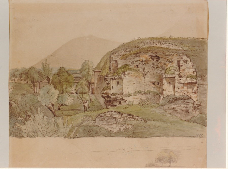 Schlossrondell 1829 (Aquarell, Carl Morgenstern)